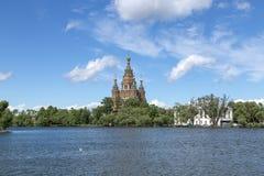 Peter και καθεδρικός ναός του Paul σε Peterhof, Ρωσία Στοκ Φωτογραφίες