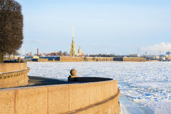 Peter και φρούριο του Paul στη Αγία Πετρούπολη το χειμώνα Στοκ εικόνα με δικαίωμα ελεύθερης χρήσης