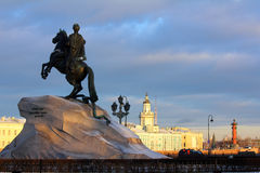 Peter 1 Denkmal in St Petersburg Stockfoto