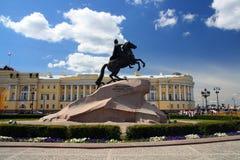 Peter 1 monumento a St Petersburg Fotografia Stock