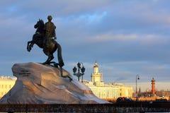 Peter (1) pomnikowy święty Petersburg Zdjęcie Stock