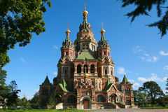 Peter And Paul Cathedral At Peterhof Royalty Free Stock Photo