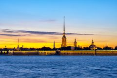 Free Peter And Paul Fortress At Sunset, St Petersburg, Russia Stock Image - 157426201