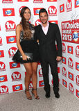 Peter Andre,Emily MacDonagh. Peter Andre and Emily Macdonagh arriving at The TV Choice Awards 2013 held at the Dorchester, London. 09/09/2013 Picture by: Henry Stock Image