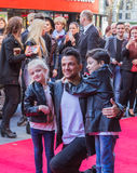 Peter Andre posing for photographers with his children Royalty Free Stock Images