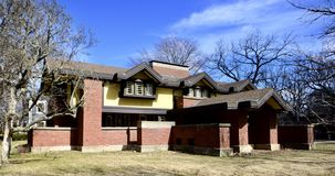 Peter A. Beachy House. This is an early Spring picture of the historic Peter A. Beachy House located in Oak Park, Illinois in Cook County.  The Beachy House was Royalty Free Stock Photos