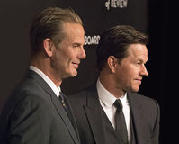 Peter Berg e Mark Wahlberg Score na gala das concessões de NBR Foto de Stock Royalty Free