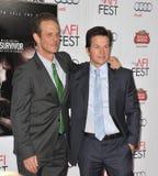 Peter Berg y Mark Wahlberg Fotografía de archivo
