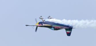 Peter Besenyei od Węgry na Airshow zdjęcie stock