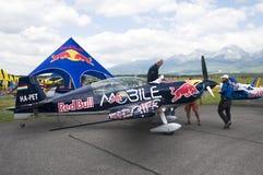 Péter Besenyei piloting Extra 300S Royalty Free Stock Photography