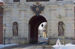 Peter bramy zimy dzień Paul fortecy Petera Zdjęcia Stock