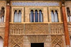 Peter Castles Palast Alcazar Royal Palace Sevilla Spanien Stockfotos