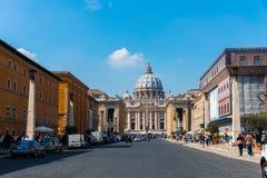 Peter Cathedral el 21 de marzo en Roma, Italia Imagen de archivo libre de regalías