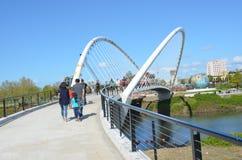 Peter Courtney Minto Island Bridge de Salem, Orégon Photos stock