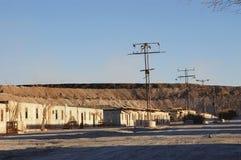 Ville abandonnée dans le désert d'Atacama, Chili Images stock