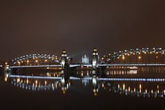 Peter de Grote brug van St. Petersburg Stock Afbeelding