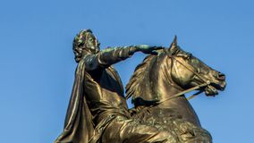 Peter den stora monumentet, bronsskickliga ryttaren, St Petersburg, Ryssland lager videofilmer
