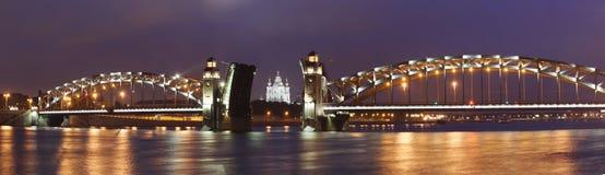 Peter der Große-Brücke, St Petersburg Stockbilder