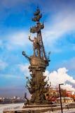 Peter der Große-Monument in Moskau Stockbild