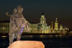 Peter der Große-Statue in St Petersburg, Russland Stockbild