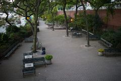 Peter Detmold Park in Manhattan, New York City Stockbilder