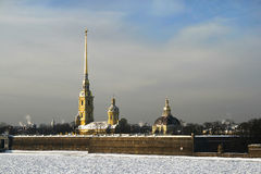 Peter e Paul Fortress. San Pietroburgo Immagine Stock