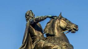 Peter el gran monumento, el jinete de bronce, St Petersburg, Rusia almacen de metraje de vídeo