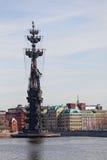 Peter el gran monumento en Moscú Fotos de archivo libres de regalías