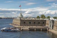 Peter en Paul Bastion in Sankt Petersburg Royalty-vrije Stock Afbeeldingen