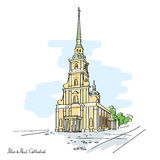 Peter en Paul Cathedral, St Petersburg, Rusland royalty-vrije illustratie