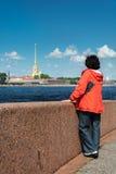 Peter en Paul Cathedral, St Petersburg, Rusland stock afbeeldingen