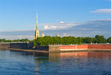 Peter en Paul Fortress Stock Afbeelding