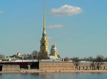 Peter en Paul Fortress, Heilige Petersburg Royalty-vrije Stock Foto
