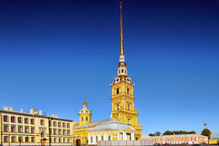 Peter en Paul Fortress. Heilige-Petersburg. Royalty-vrije Stock Foto
