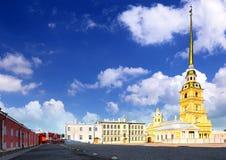 Peter en Paul Fortress. Heilige-Petersburg. Royalty-vrije Stock Foto's