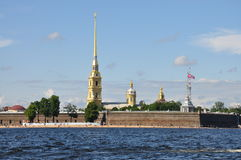 Peter en Paul Fortress in St Petersburg Stock Afbeelding