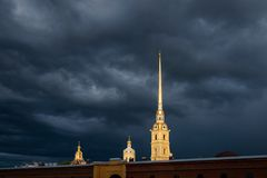 Peter en Paul Fortress, St Petersburg, Rusland stock afbeelding
