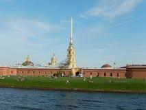 Peter en van Paul vesting Heilige-Petersburg Rusland Royalty-vrije Stock Afbeeldingen