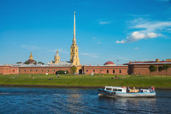 Peter en van Paul vesting in Heilige Petersburg, Rusland Stock Foto's