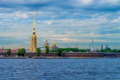 Peter en van Paul vesting in St Petersburg Stock Foto