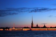 Peter en van Paul vesting, St. Petersburg, Rusland Royalty-vrije Stock Foto's