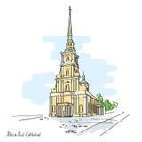 Peter et cathédrale de Paul, St Petersburg, Russie illustration libre de droits