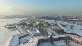 Peter et forteresse de Paul, St Petersburg banque de vidéos