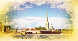 Peter et forteresse de Paul, St Petersburg Russie Images libres de droits