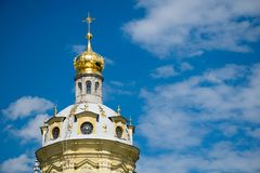 Peter et la cathédrale de Paul à St Petersburg, Russie image libre de droits