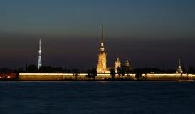 Peter et la forteresse de Paul - rue - Pétersbourg - Rus Images stock