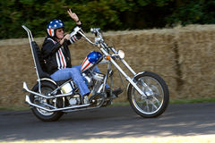 Peter Fonda on Easy Rider Chopper. At Goodwood Stock Photography