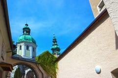 Peter-Friedhof in Salzburg Stockbild