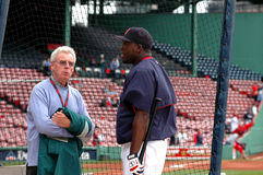 Peter Gammons and David Ortiz Royalty Free Stock Images