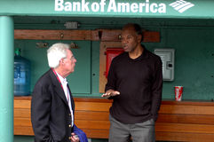 Peter Gammons and Tommy Harper Stock Image